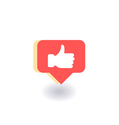 thumbs up like icon symbol in flat style vector image