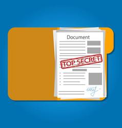 Top secret folder with vector