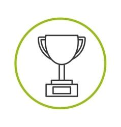 trophy icon design vector image