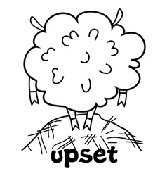 Upset sheep vector image