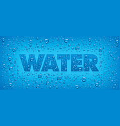 Water backgrounds with text and drops vector