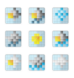 Weather 8bit icons vector