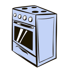 White oven icon cartoon vector