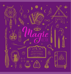 witchcraft magic background for witches and vector image