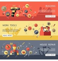 Work Tools Banner Set vector image