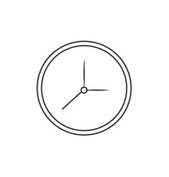 clock watch time icon outline vector image