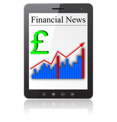 Financial News on Tablet PC vector image vector image
