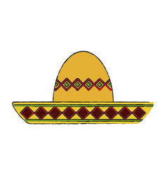mariachi mexican hat vector image vector image