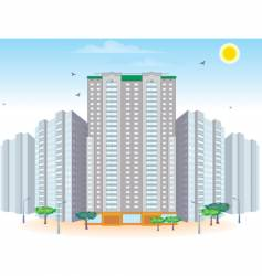 multi-storied buildings vector image vector image