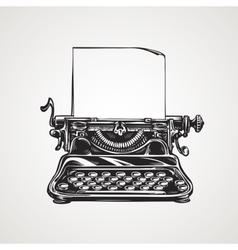 Vintage mechanical typewriter Sketch vector image vector image