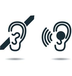 deaf vector image