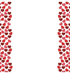 hearts love frame seamless pattern design vector image