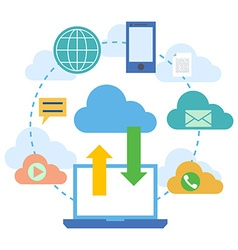 Web banners for cloud computing services and vector image vector image