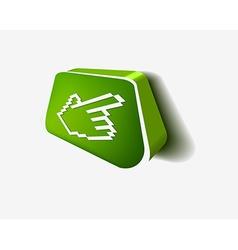 3d hand cursor icon vector image vector image