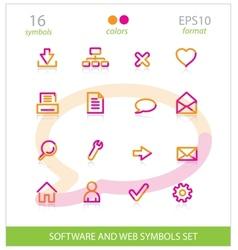 creative interface software symbols set vector image