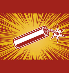 dynamite in comic book style design element for vector image vector image
