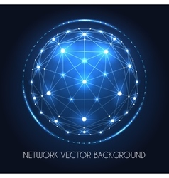 Globe network sphere connection concept vector image vector image