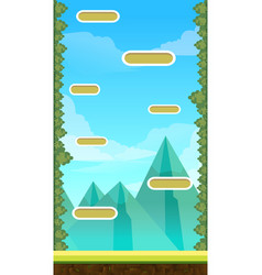 jump game user interface design for tablet vector image vector image