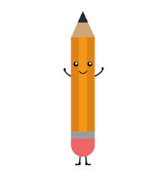 Pencil school kawaii character vector