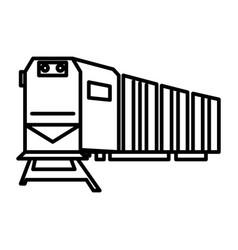 railway logisticstraincargo line icon vector image