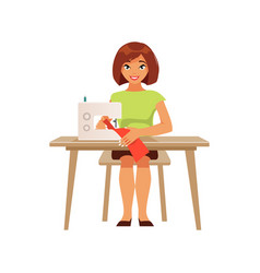 seamstress housewife vector image vector image