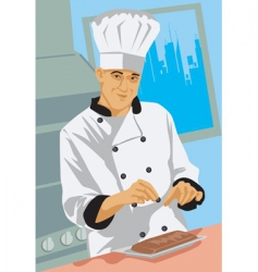 chef dish vector image