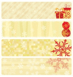christmas beige banners vector image vector image