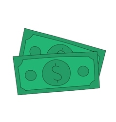dollar notes vector image vector image