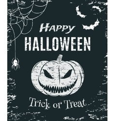 Grunge Happy Halloween poster template vector image
