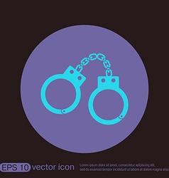 handcuffs symbol of justice police icon vector image vector image