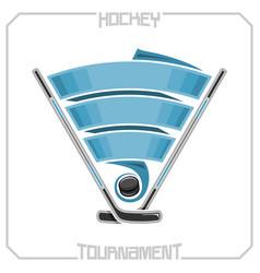 hockey club vector image