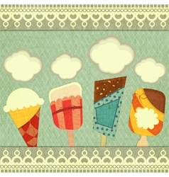 Ice cream retro price vector image vector image