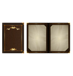 notepad with a gold border vector image