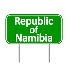 Republic of Namibia road sign vector image vector image