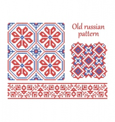 Russian vintage pattern vector image vector image