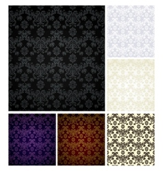 Seamless pattern six colors vector image vector image