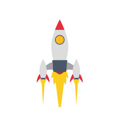 spaceship rocket isolated vector image