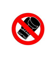 Stop boxing It is forbidden to fight Frozen Boxing vector image