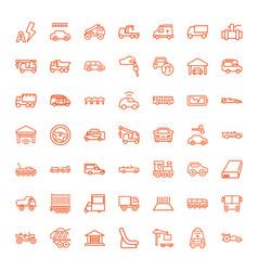 49 auto icons vector image