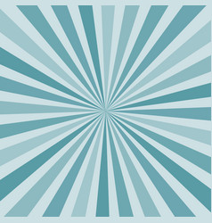 Abstract burst sunburst rays in shades of blue vector