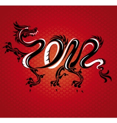 Abstract new year dragon card vector