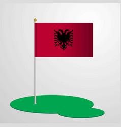 Albania flag pole vector