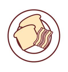 bacon stripes icon image vector image