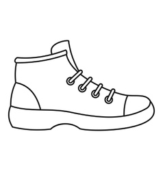 Boot icon outline style vector