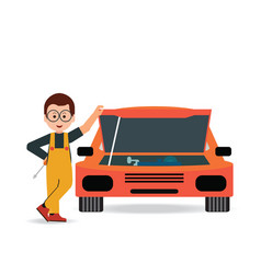 car service and repair vector image