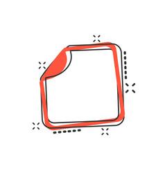 cartoon sticker icon in comic style empty vector image