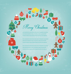 Christmas greeting card with merry christmas and vector