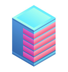 city building icon isometric style vector image