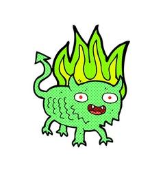 Comic cartoon little demon vector