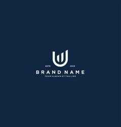Creative letter u financial chart logo design vector